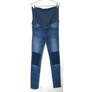 H&M Skinny Colorblock Maternity Jeans
